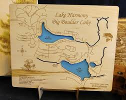 Lake Cumberland Map Wooden Lake Maps Wood Carved Lake Maps