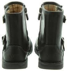womens motorcycle boots australia ugg harwell biker boots in black in black