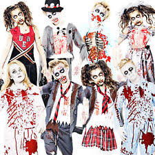 Zombie Boy Halloween Costume Girls Zombie Costume Ebay