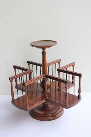 Reading Desk Stand by Wood Revolving Desk Book Stand At 1stdibs