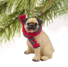 pug ornament ebay