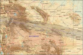 Wy Map Wyoming Eclipsophile