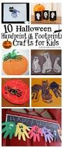 halloween hand and footprint art ideas rv pinterest