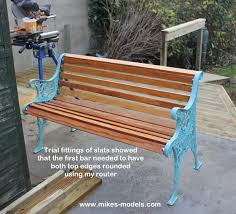 Garden Bench Hardwood How To Restore A Cast Iron Bench By New Wood And Painting