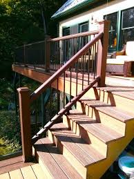 Height Of Handrails On Stairs by How To Build A Railing For Deck Stairs The Washington Post