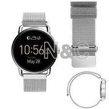 bracelet bands ebay images Silver stainless steel 22mm watch bands for fossil q wander straps jpg