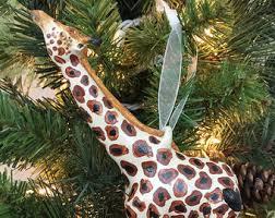 giraffe ornament etsy