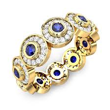 gold rings price images Round blue sapphire yellow gold 18k anjali diamond ring jpg