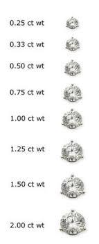 diamond stud size stud earring sizes chart socialmediaworks co