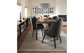 glass parsons dining table elegant parsons dining table with cora chairs modern room for and
