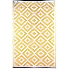 Yellow And White Outdoor Rug Kenji Yellow Outdoor Area Rug Outdoor Areas