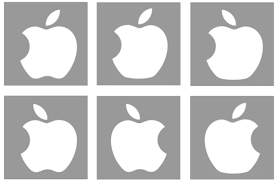 85 college students tried to draw the apple logo from memory 84