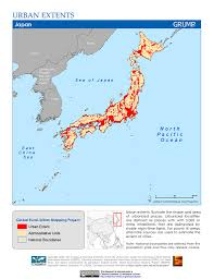 Map Japan Maps Global Rural Urban Mapping Project Grump V1 Sedac