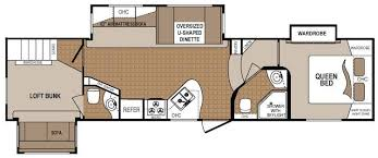 Travel Trailers With Bunk Beds Floor Plans Best 5th Wheel Floor Plans Fifth Wheel Floorplans Camping