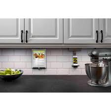 Under Cabinet Plug Mold Ipad Kitchen Stand An Under Cabinet Tablet Mount From The Adorne