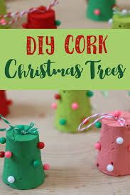 diy cork tree ornaments