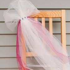easy u0026 pretty tulle wedding decor chair backs stair railings