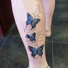 url http tattooshunt com beautiful butterfly on leg
