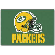 Green Bay Packers Home Decor Bay Packers Helmet Starter Rug