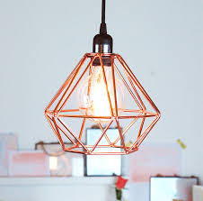 Ceiling Pendant Lights by Nordic Geometric Copper Ceiling Pendant Light Ceiling Pendant