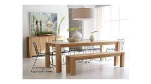 crate and barrel dining table set big sur natural 90 5 dining table reviews crate and barrel