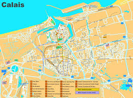 Calais France Map calais sightseeing map