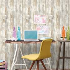 distressed wood peel and stick wallpaper roommates