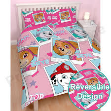 girls horse themed bedding paw patrol official duvet cover sets various designs kids bedroom