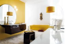 Yellow Bathtub Yellow And Gray Bathroom Wall Art Wall Mount Tub Faucet Floor