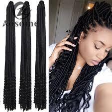 Braid Hair Extensions by 18 U0027 U0027 3 Color Synthetic Faux Locks Twist Braids Hollow Crochet Hair