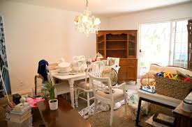 Painting Dining Room Domestic Fashionista Almost White Dining Room