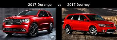 compare dodge durango 2017 dodge durango vs 2017 dodge journey comparison