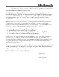 Sample Application Letter And Resume by Leading Professional Software Testing Cover Letter Examples