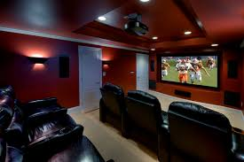living room movie theater home theater contemporary with modern