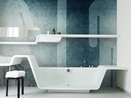 Decorating With Wallpaper by Wallpaper In Bathroom Boncville Com