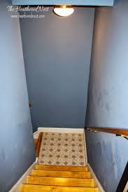 How To Paint Over Dark Walls by Brightened Up Basement Stairway Reveal Bless U0027er House