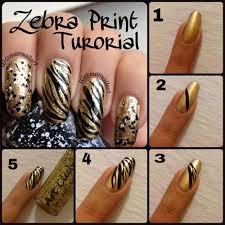 zebra pattern nail art simple easy zoo farm animals nail art tutorial 2014 2015 for
