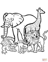 coloring page graceful color pages animals of full size