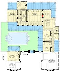 House Plans With A Courtyard Fabulous Vaulted Ceilings And A Guest Casita 16382md
