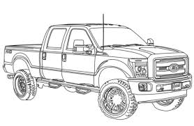 coloriage ford f250 lifted 2014 coloriages à imprimer gratuits
