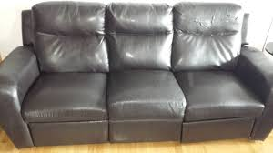 The Brick Leather Sofa My Bonded Leather Bought In 2011 From The Brick Is Falling