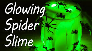 glow in the dark spider slime halloween youtube