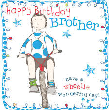 birthday card for brother with bike cubecure