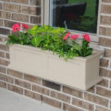 Window Sill Planter by White Window Boxes Pots U0026 Planters The Home Depot