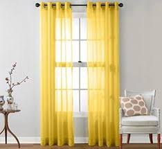 Yellow Sheer Curtains Yellow Curtains Gray Walls Linen Cotton Grommet Window Panel