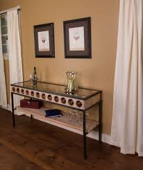 wine rack console table french glass top wine rack console table