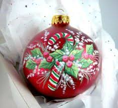 5 painted glass ornament by mickey baxter spade crafts