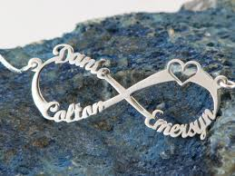 Infinity Name Necklace 3 Names Silver Infinity Necklace Silver By Wedesignjewelry On Etsy