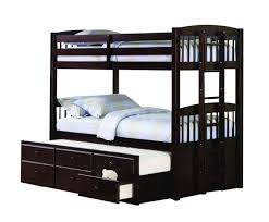 Youth Bunk Beds Youth Logan Bunk Bed W Trundle In Cappuccino 460071 460074