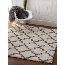 Shag Carpet Area Rugs Shag Rug Shag Rug White Gray High Quality Carpet Polypropylene